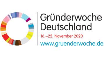 Logo und Schriftzug der Gründerwoche Deutschland 2020.