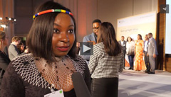 "Link zur Seite ""Start-up Night! Afrika"" (Screenshot Video Start-up Night! Afrika - eine afrikanische Frau gibt ein Interview)"
